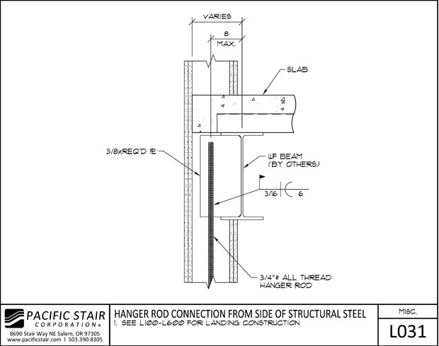 Structural Steel Connections Dwg : Downloads and details pacific stair corporation