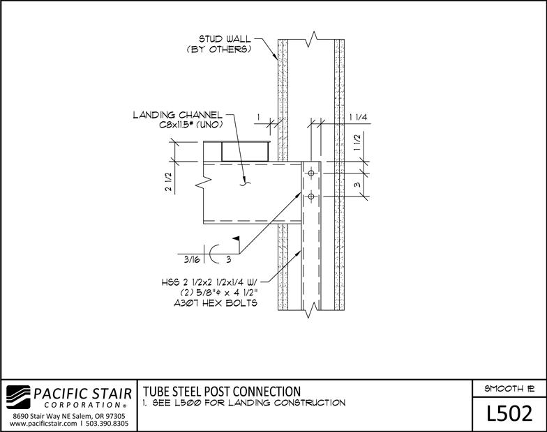 L smooth plate pacific stair corporation