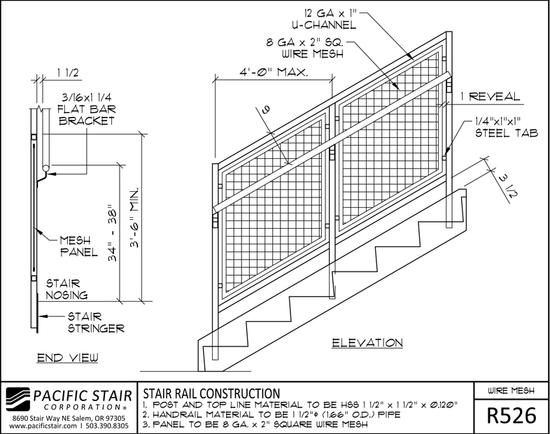Wire Mesh Rail | Pacific Stair Corporation