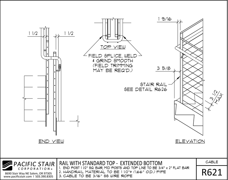 Cable Rail | Pacific Stair Corporation