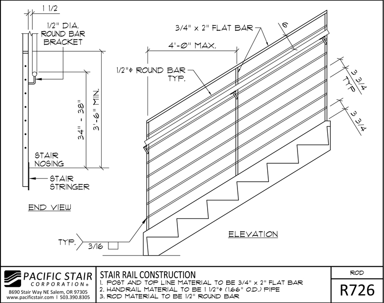Rod Rail | Pacific Stair Corporation