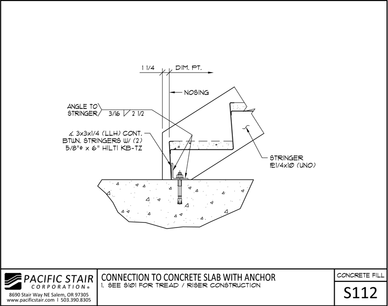 L100 Concrete Filled Pacific Stair Corporation