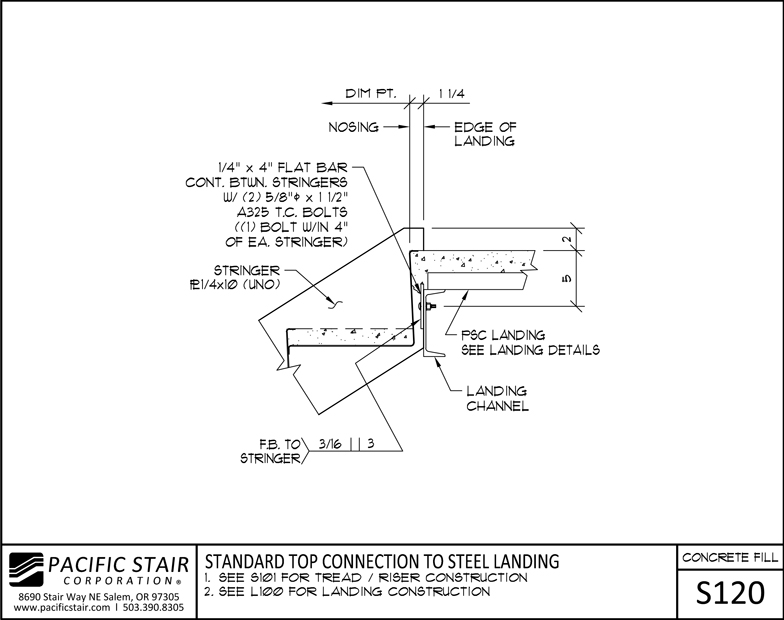 Concrete Filled Stairs Amp Landings Pacific Stair Corporation