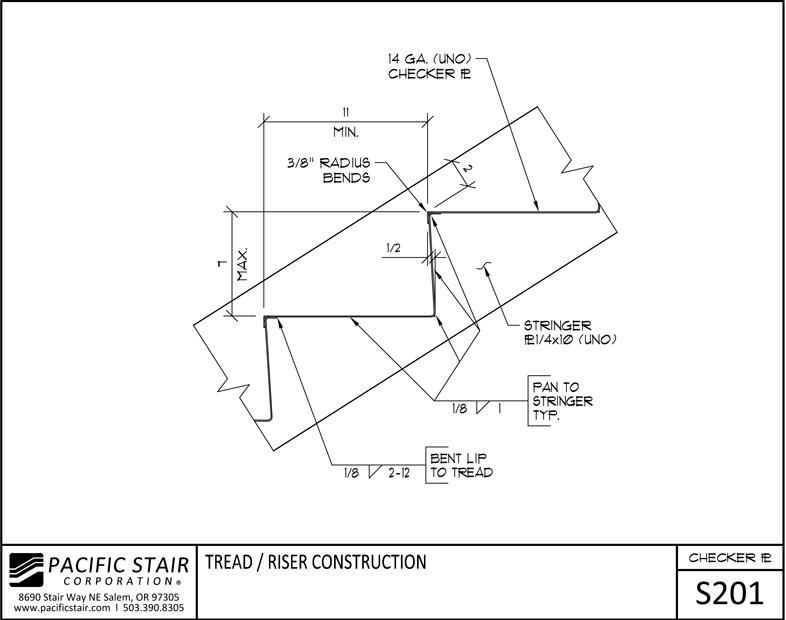 Attrayant S201 Checker Plate Stair   Tread / Riser Construction ...