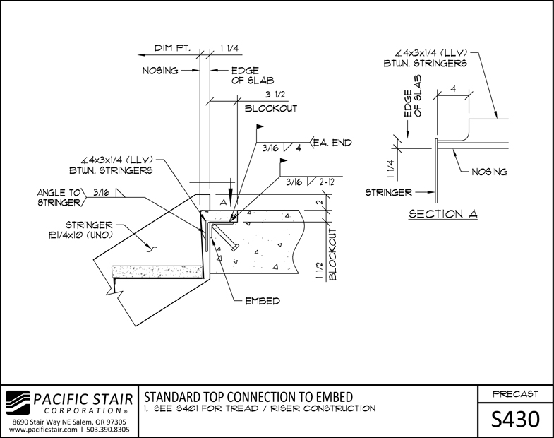 L400 Precast Pacific Stair Corporation