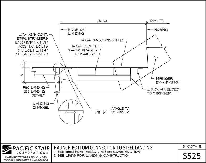 S525 Smooth Plate Stair   Haunch Bottom Connection To Steel Landing ...