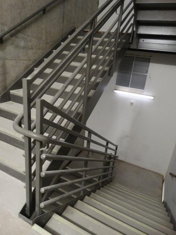 Perfect Wire Mesh Stair Railings Festooning Everything